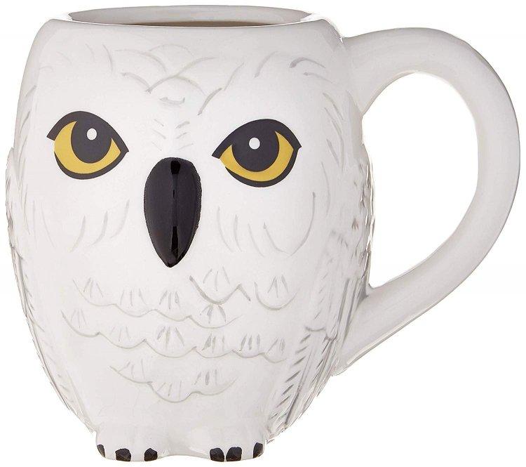 Кружка Harry Potter Hedwig 3D Sculpted Ceramic Mug  20 oz