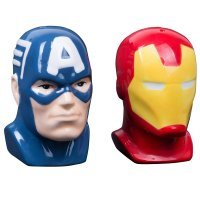 Солонка и Перечница Marvel Captain America and Iron Man Salt and Pepper Shakers
