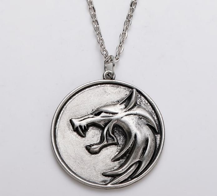 Медальон 3D Ведьмак (The Witcher) металл серый новый кулон Геральта из сериала #3