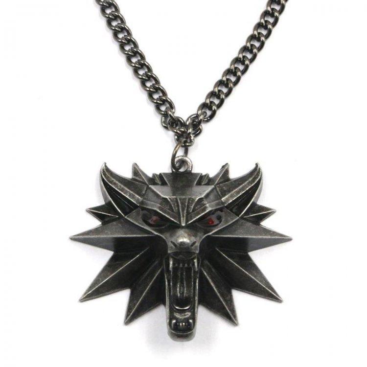 Кулон 3D Ведьмак (The Witcher) металл - красные глаза