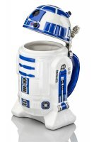 Кружка Star Wars R2-D2 Stein - Collectible 32oz Ceramic Mug with Metal Hinge