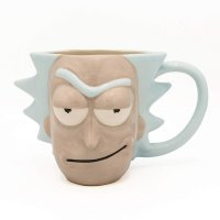 Чашка Рик и Морти Cartoon Rick Face Ceramic 3D Sculpted Mug 20 Oz