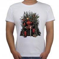 Футболка мужская Deadpool on the Iron Throne (размер XXL)