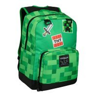 "Рюкзак Майнкрафт - Minecraft Survival Badges Kids Backpack (Green, 17"") School"