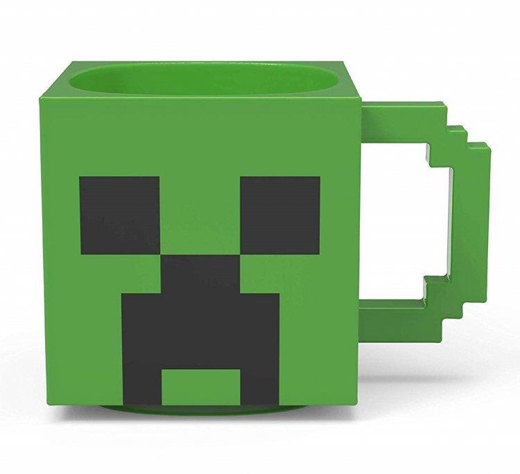 Чашка Minecraft Creeper 3D - кружка майнкрфт керамика