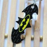 Брелок Batman bat double Logo Metal Keychain