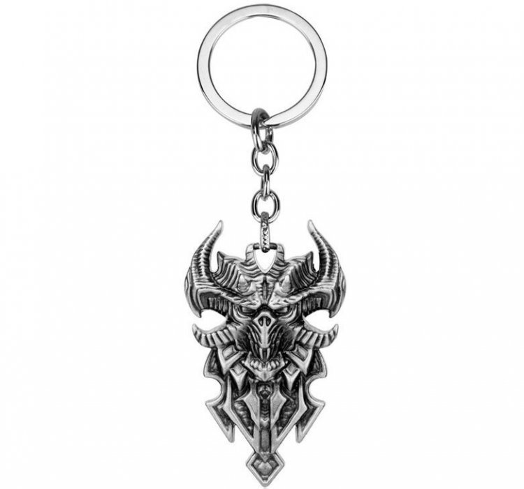 Брелок - Diablo III Logo Metal silver