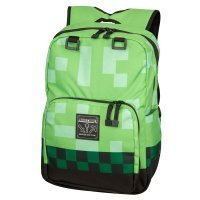 Рюкзак Майнкрафт - Minecraft Creeper Kids Backpack (Green, 18