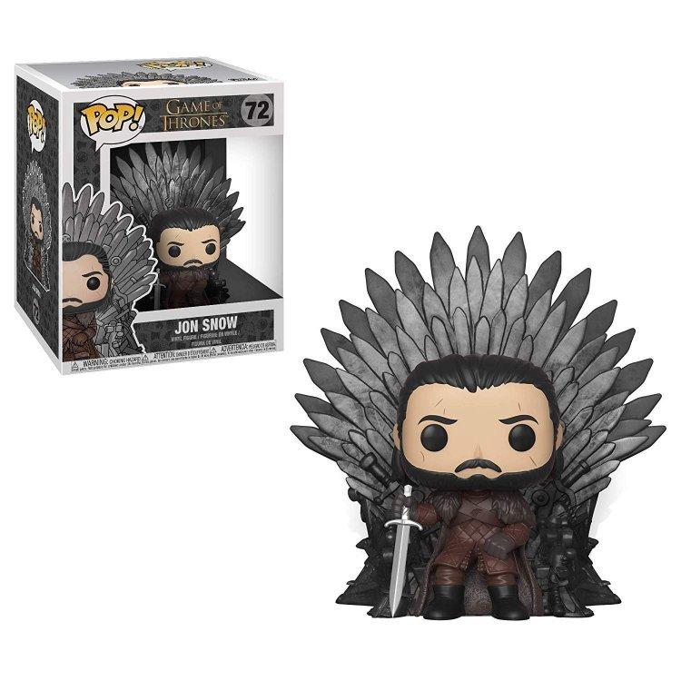 Фигурка Funko Pop Deluxe: Game of Thrones - Jon Snow Sitting On Iron Throne фанко Джон Сноу