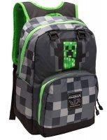 "Рюкзак Майнкрафт - Minecraft Creepy Creeper Kids Backpack (Dark Grey, 17"") School"