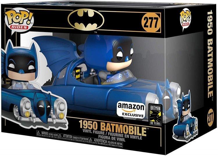 Фигурка Funko Pop Rides: Batman 80th - Blue Metallic 1950 Batmobile (Amazon Exclusive)