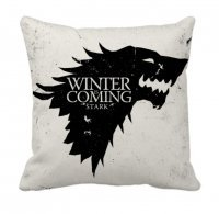 "Наволочка  Game of Thrones Stark Wolf ""Winter is Coming"" White"