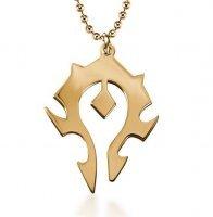 Медальон World of Warcraft Horde Titanium steel golden