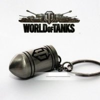 Брелок World of Tanks Bullet металл