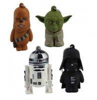 Набор Брелков - Star Wars - Yoda Darth Vader Chewbacca R2-D2