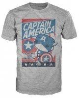 Футболка Men's Pop! T-Shirts: Marvel - Cap America Fight For Justice (размер L)