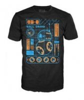 Футболка Men's Pop! T-Shirts: Star Wars Ep 7 - BB-8 Blueprint (размер L)